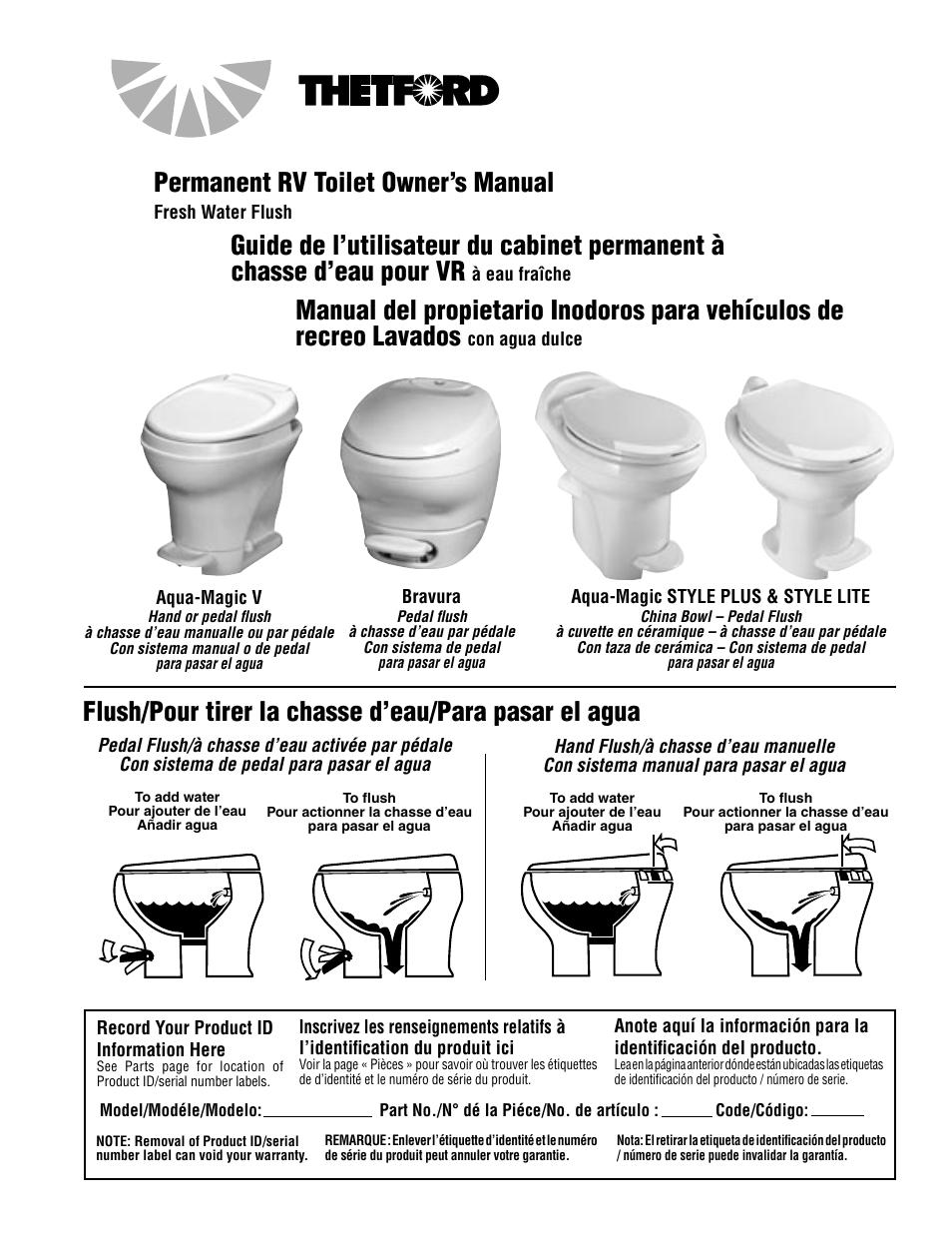 Vacuflush U00ae Pedal Flush Toilets Manual Guide