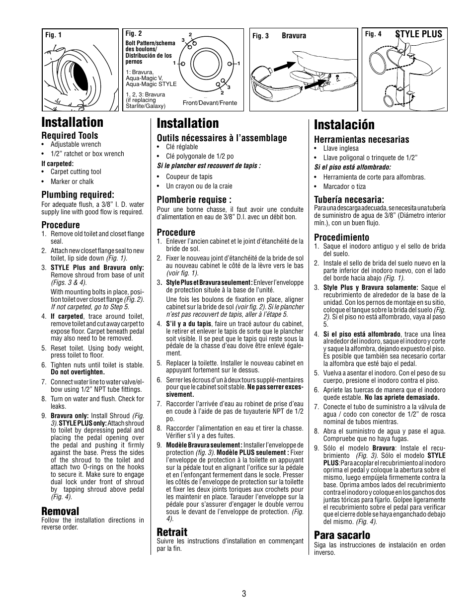 installation instalaci n retrait thetford aqua magic style lite rh manualsdir com Gutter Installation Guide Installation Guide