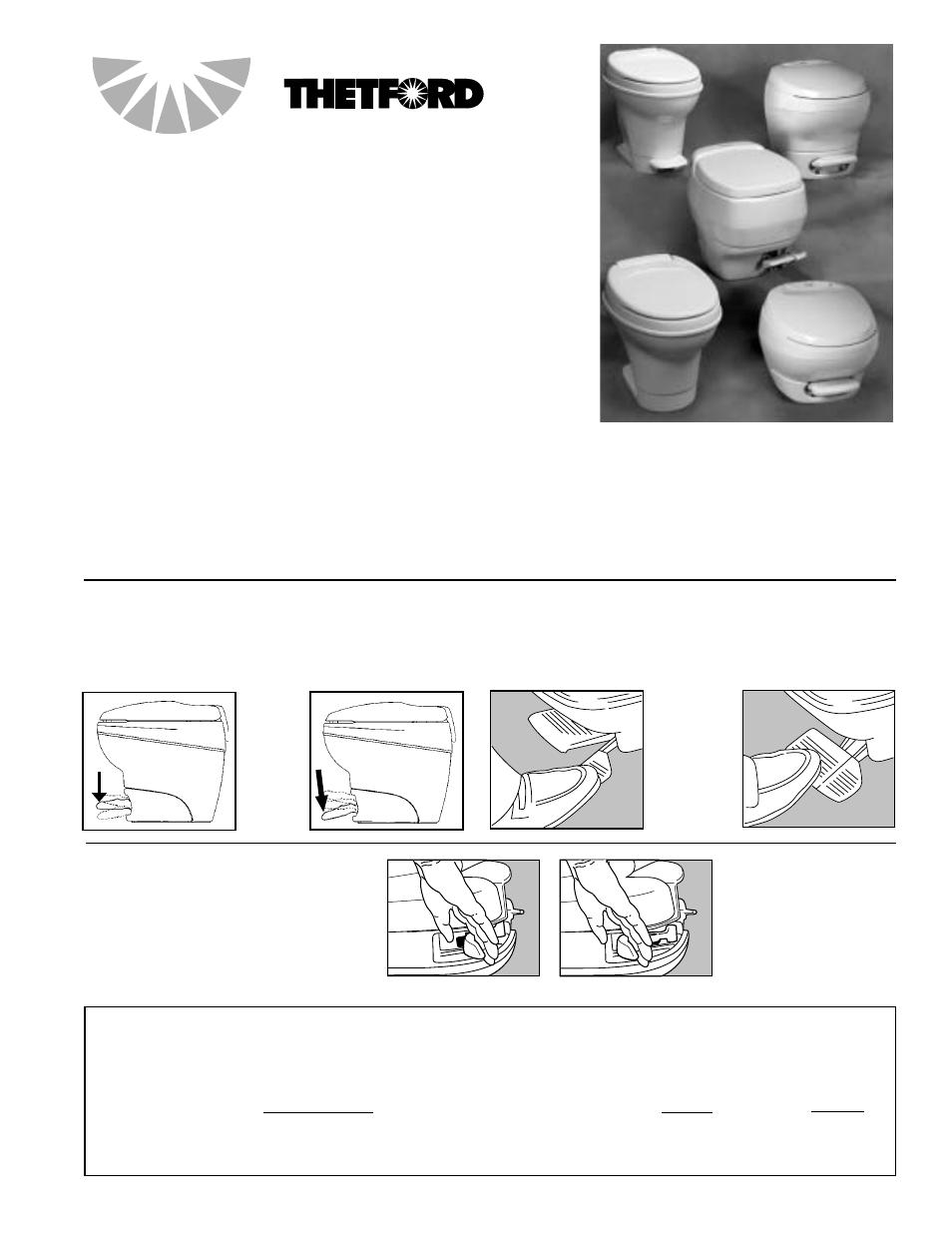 Thetford Aqua Magic Aurora User Manual 6 Pages Original Mode Toilet Parts Breakdown Together With Rv Diagram