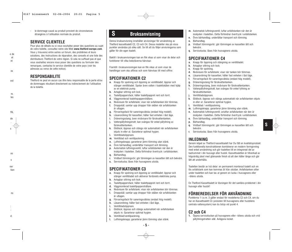 Thetford C4 Manual - Wiring Diagram •