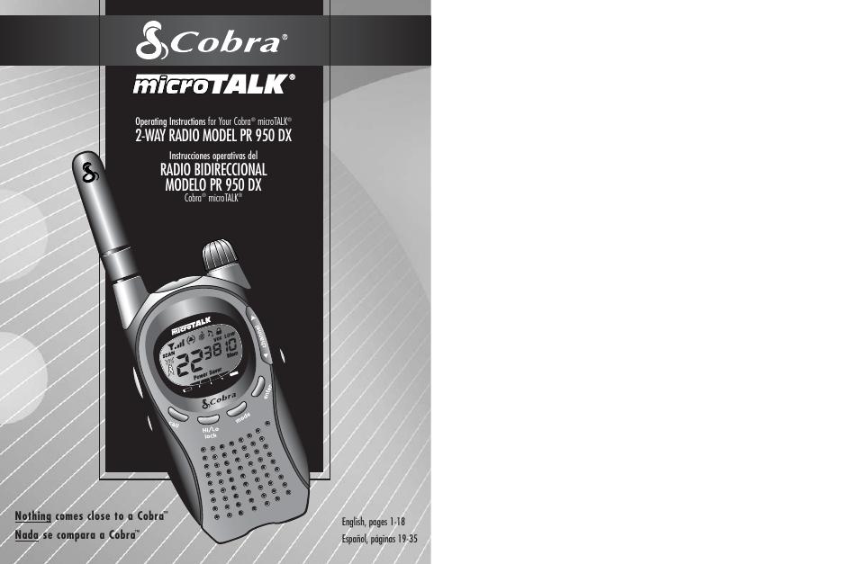 Cobra Electronics Microtalk Pr Dx Page