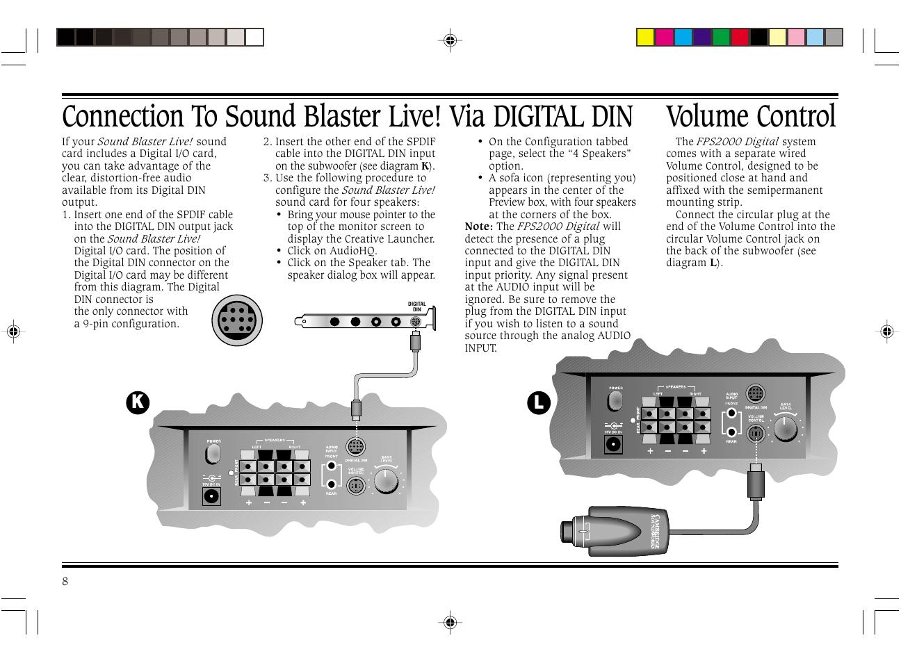 Cambridge Soundworks Subwoofer Wiring Diagram Live Sound Volume Control Connection To Blaster Via Digital Din Repair