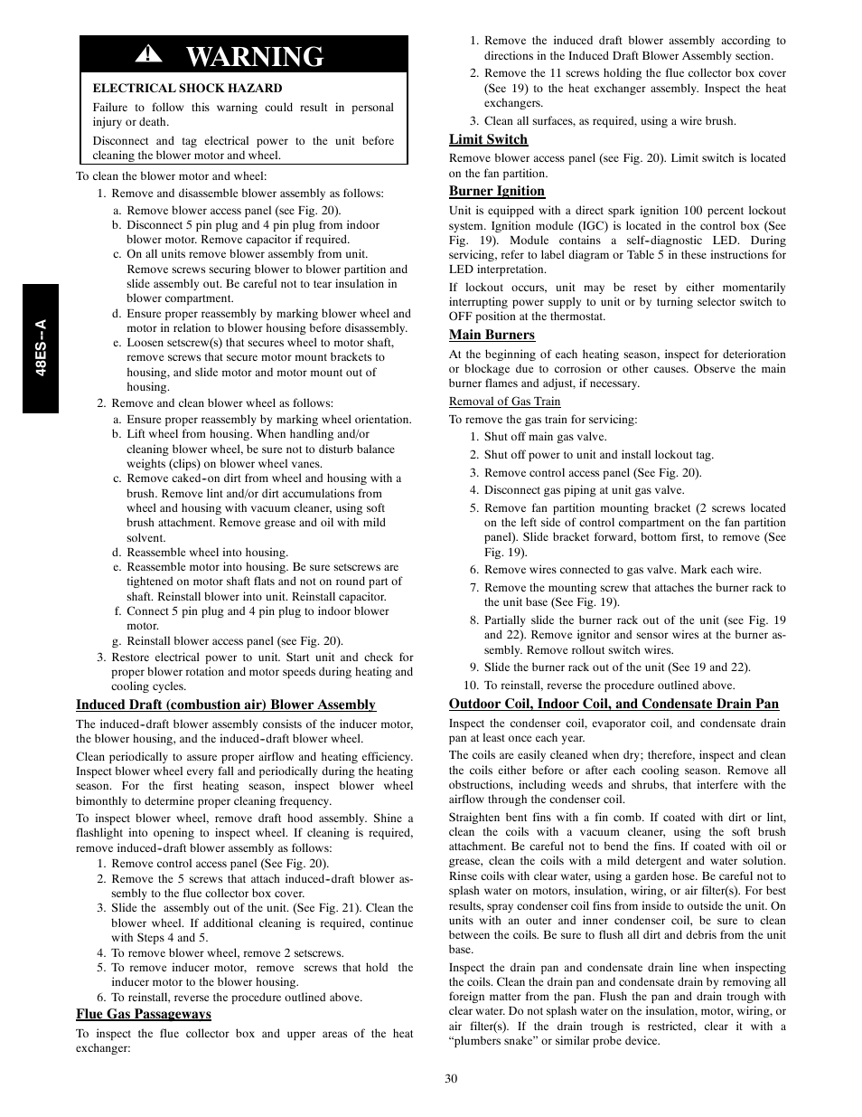 Carrier 48es Wiring Diagram Free Download Diagrams Pdf Warning A User Manual Page 30 38 At
