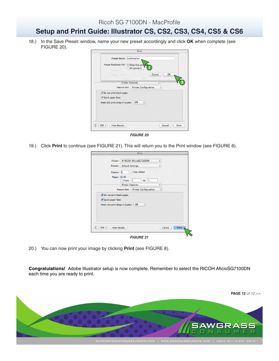 Ricoh sg 7100dn - macprofile | Xpres SubliJet R Ricoh