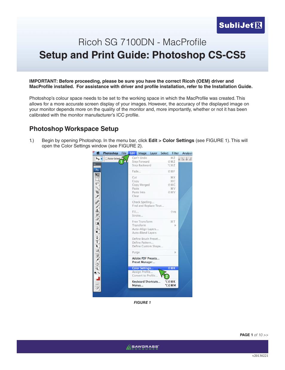 Xpres SubliJet R Ricoh SG7100DN (Mac ICC Profile Setup