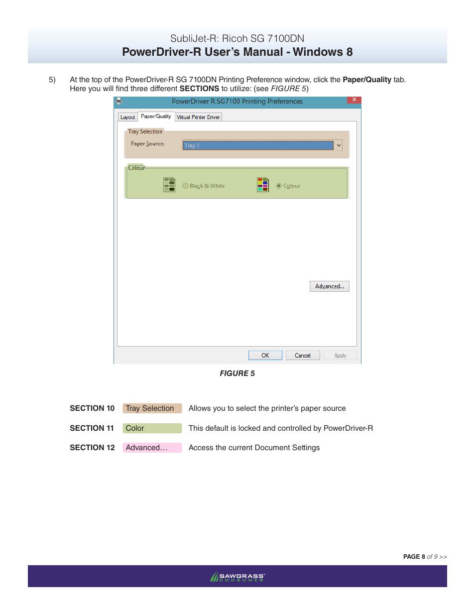Powerdriver-r user's manual - windows 8, Sublijet-r: ricoh sg 7100dn |  Xpres SubliJet R Ricoh SG7100DN (Windows Power Driver Setup): Power Driver  User ...