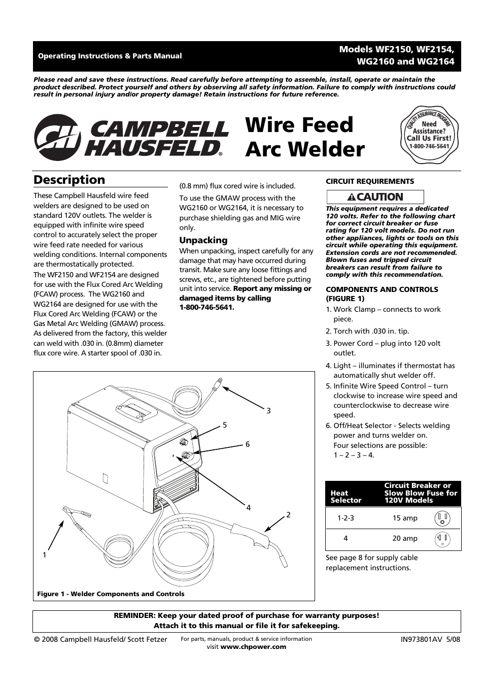 Old Fashioned Campbell Hausfeld Wire Feed Welder Photo - Wiring ...
