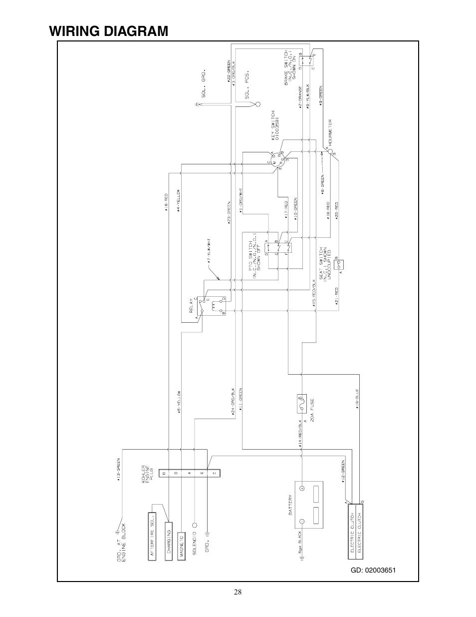 Cub Cadet Wiring Manual Schematic 2019 Lt1045 Diagram 22hp Enforcer 48 En User