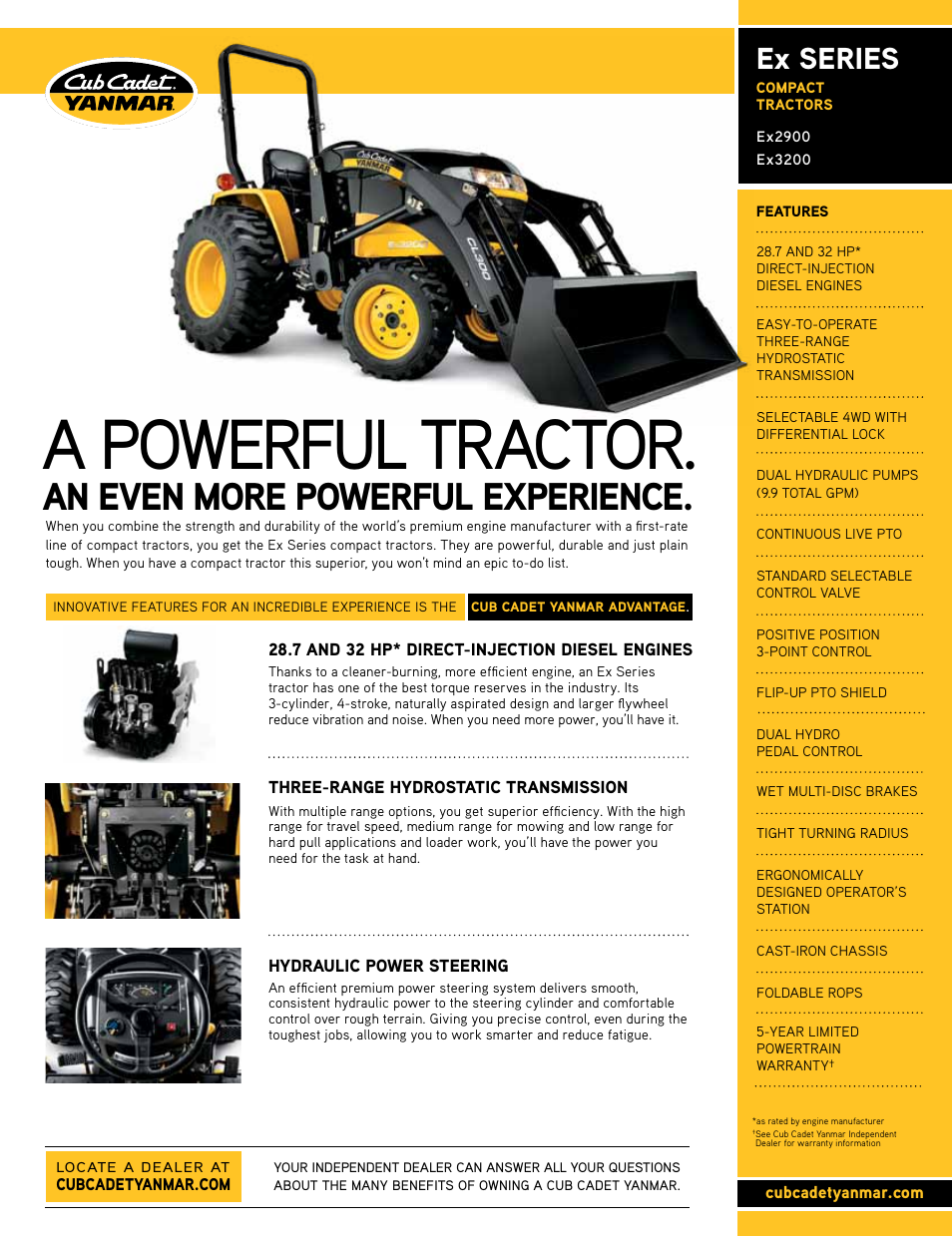 Cub Cadet EX SERIES EX3200 User Manual | 2 pages | Also for