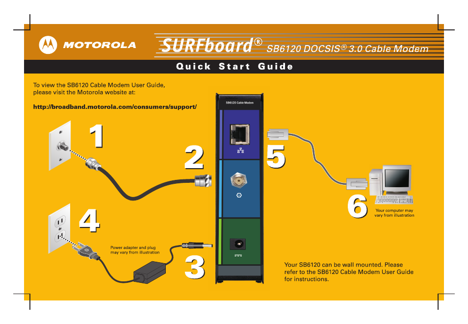 motorola sb6120 user manual 2 pages rh manualsdir com motorola modem sb6120 manual Motorola SURFboard SB6120 Configuration
