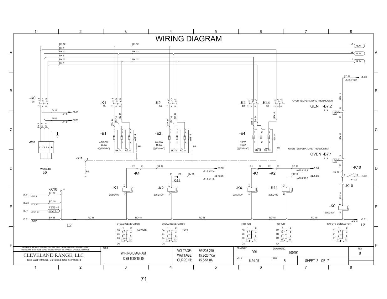 Pg 2  Wiring Diagram  Cleveland Range  Llc