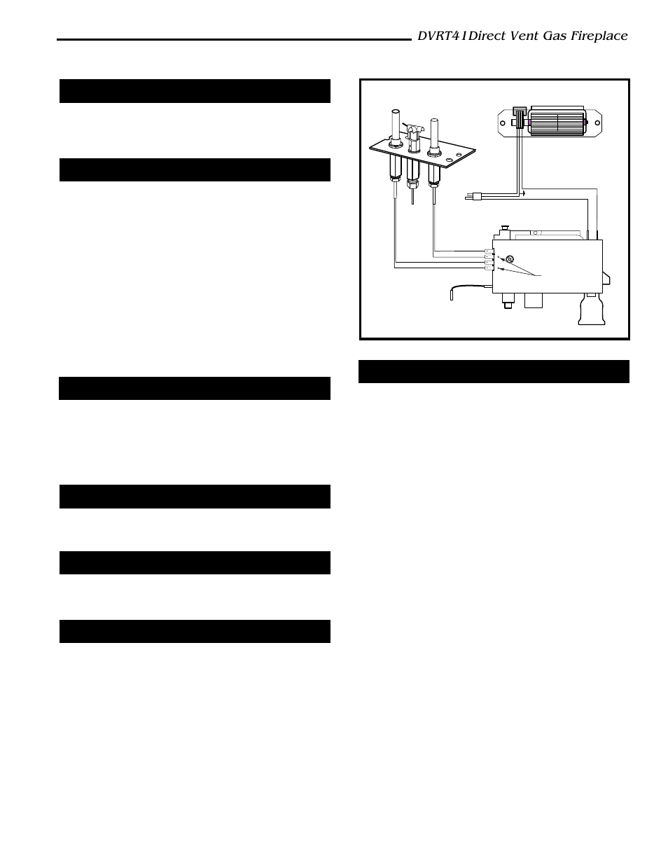 Dvrt41direct Vent Gas Fireplace Delay Timer Mode Auto On Wiring Diagram Fan Override During