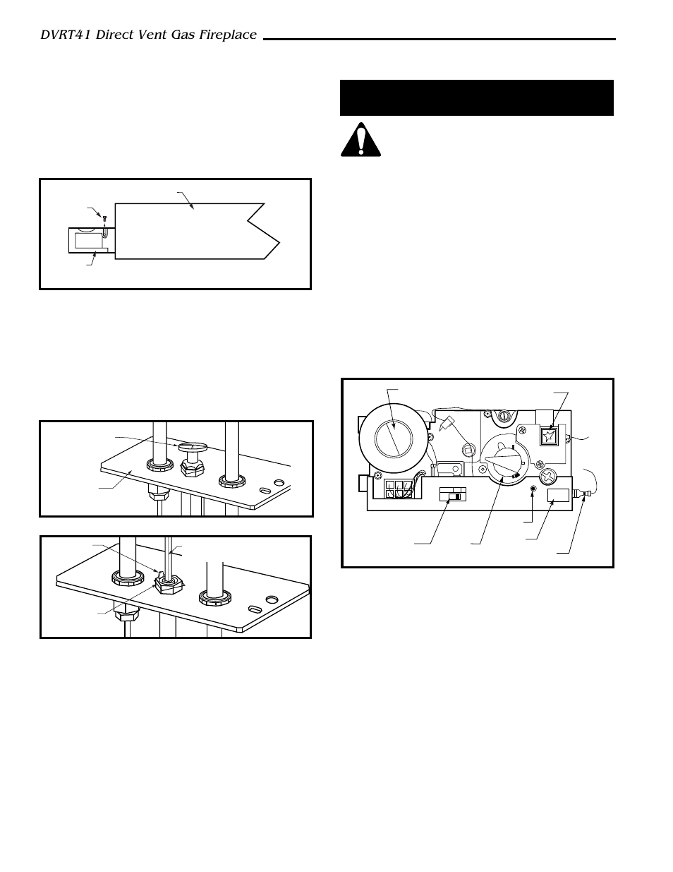 Dvrt41 Direct Vent Gas Fireplace Installation Precautions Conversion Procedure Vermont Casting User Manual Page 36 48