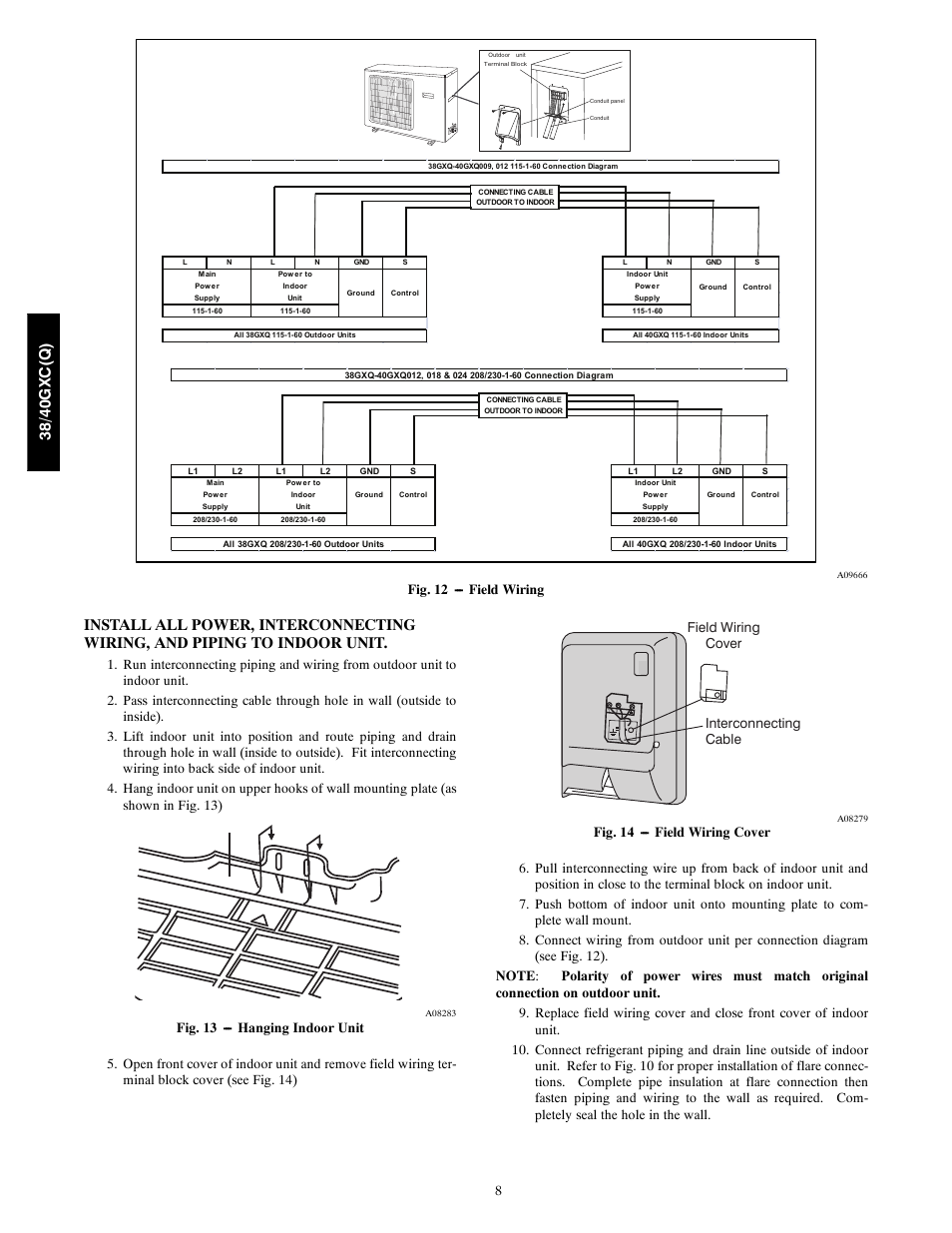 38/ 40gx c (q ), Fig. 12 --- field wiring | Carrier 40GXQ User Manual |  Page 8 / 12