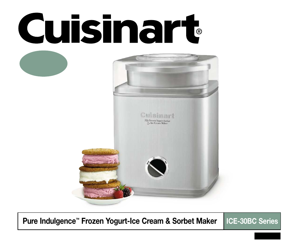 Cuisinart Ice 30bc User Manual 4 Pages