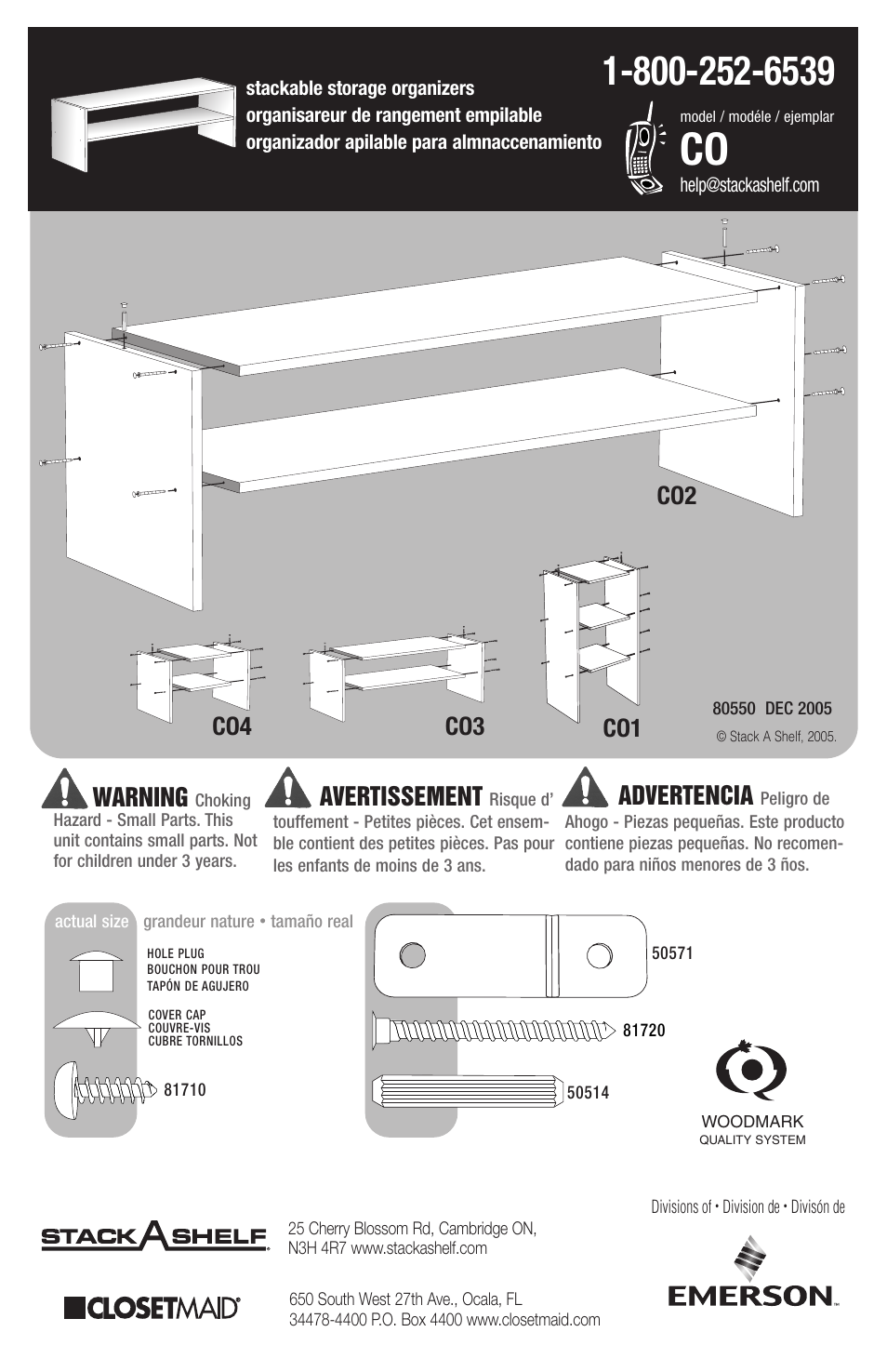Closet Maid Co4 User Manual 2 Pages Also For Co3