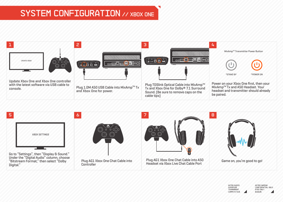 System configuration, Xbox one | Astro Gaming A50 Xbo User Manual