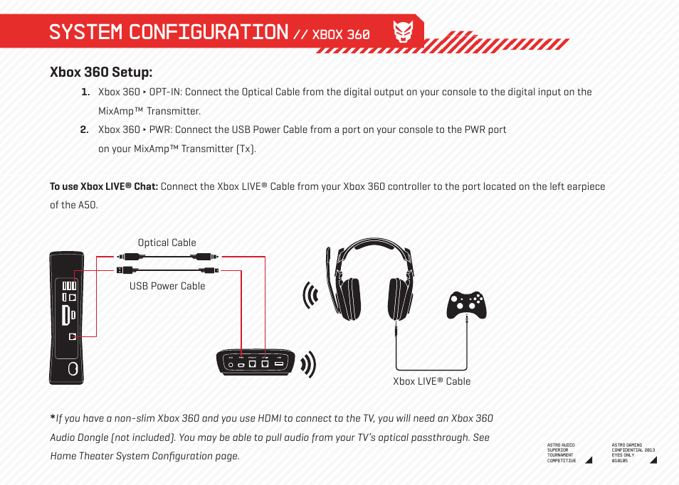System Configuration Xbox 360 Setup Astro Gaming A50 Wireless