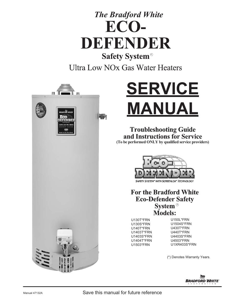 Bradford White U 65t 55fr 3n User Manual 28 Pages Also For Water Heater Wiring Diagram 50t U2 Xr 65t6frn 75s6rn 504t6frn U1 403s6frn U4 60t6frn
