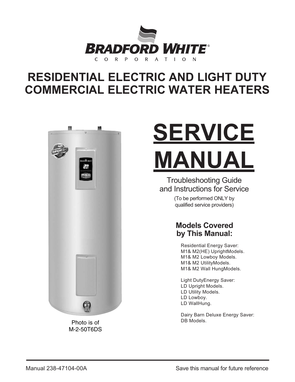 Bradford White Db 80r3ds User Manual 40 Pages Also For