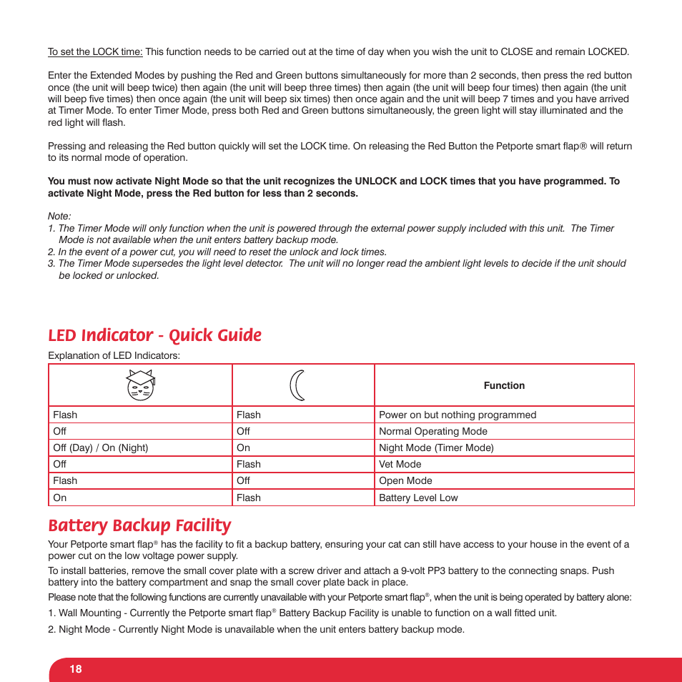 led indicator quick guide battery backup facility petsafe rh manualsdir com  petporte user manual