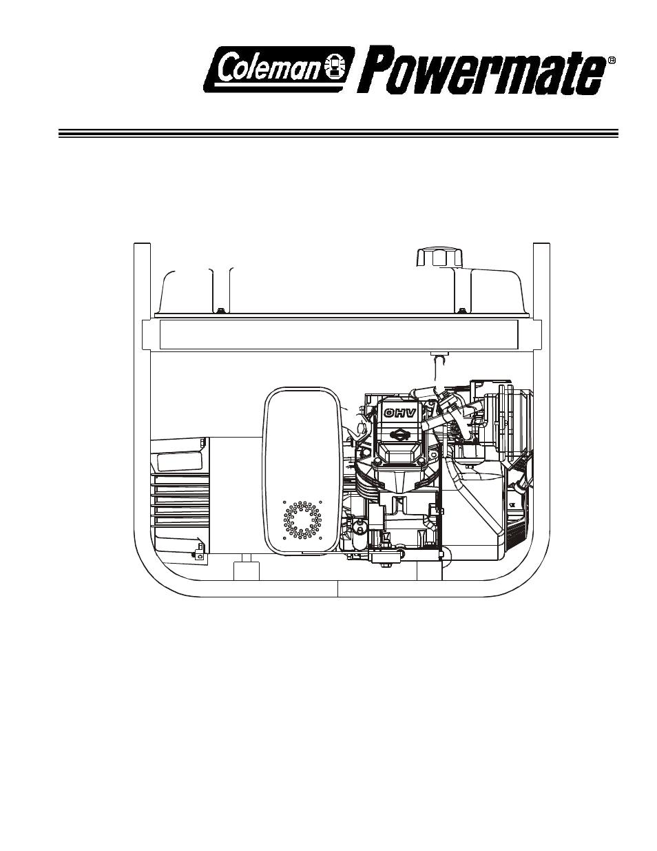 coleman powermate pulse 1750 owners manual