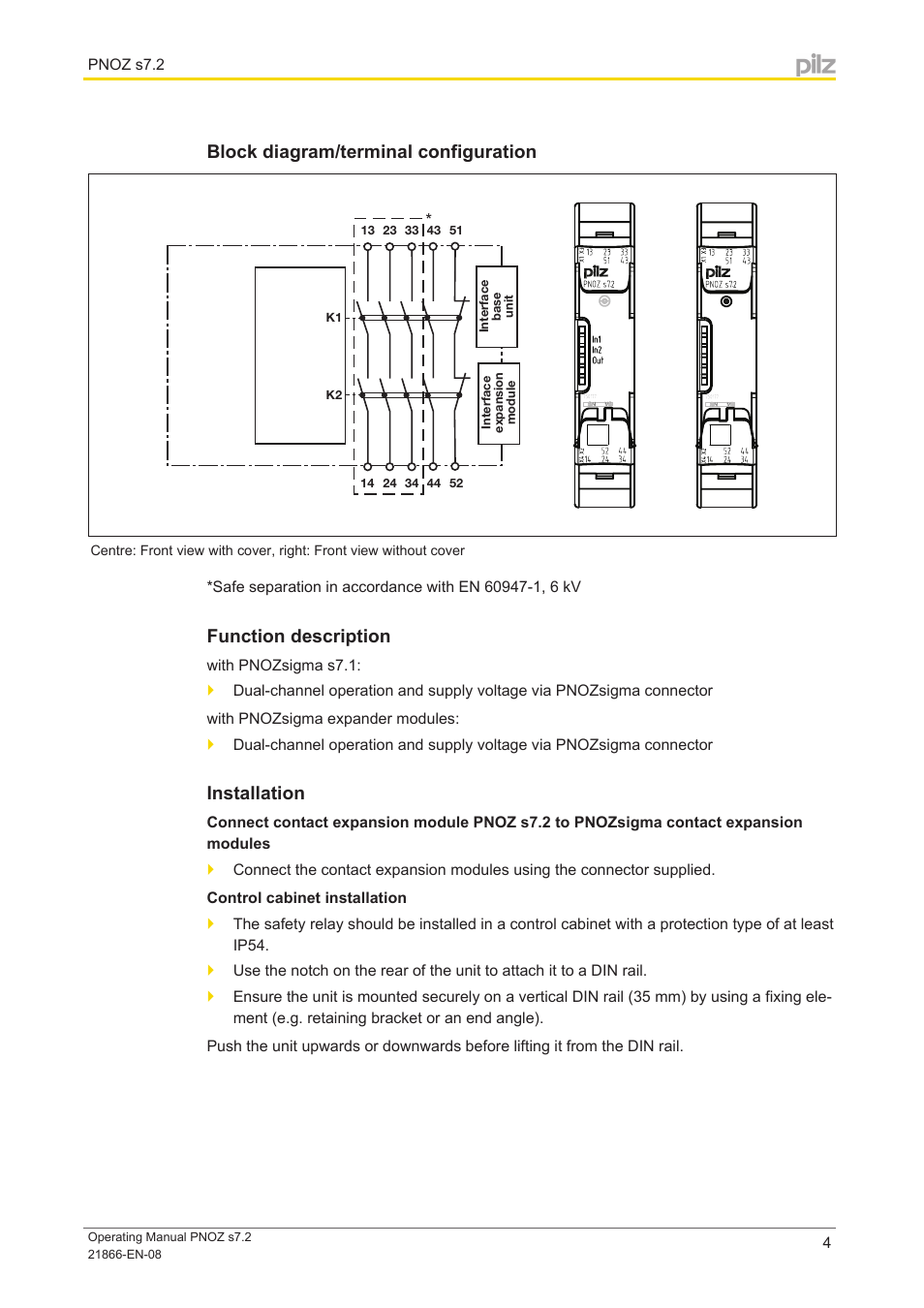 Block Diagram  Terminal Configuration  Function Description
