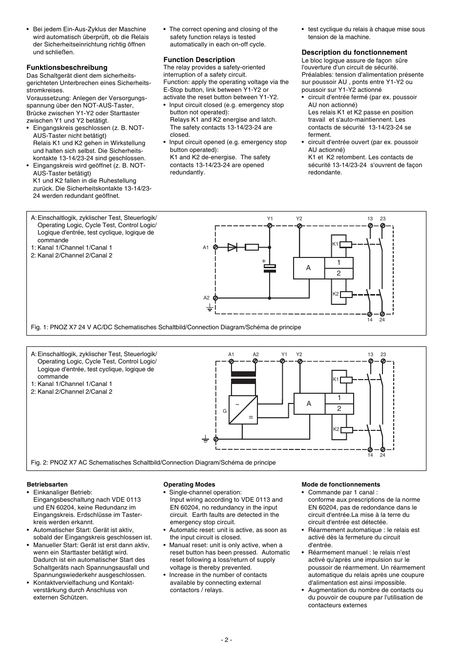 pilz pnoz x7 24vacdc 2n_o page2 pilz pnoz x7 24vacdc 2n o user manual page 2 16 also for pilz pnoz x7 wiring diagram at reclaimingppi.co