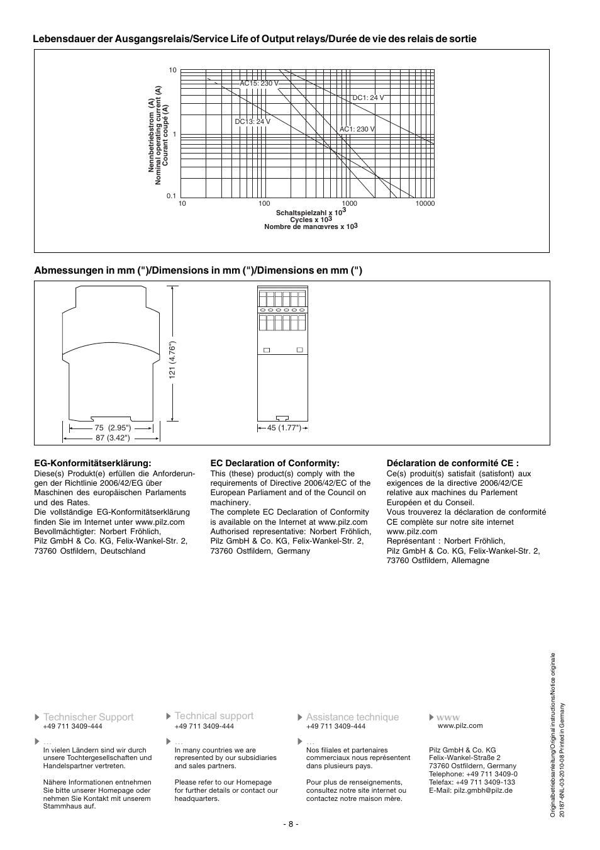 Pilz Pnoz S3 User Manual Wiring A Relay Installation C 24vdc 2 N O