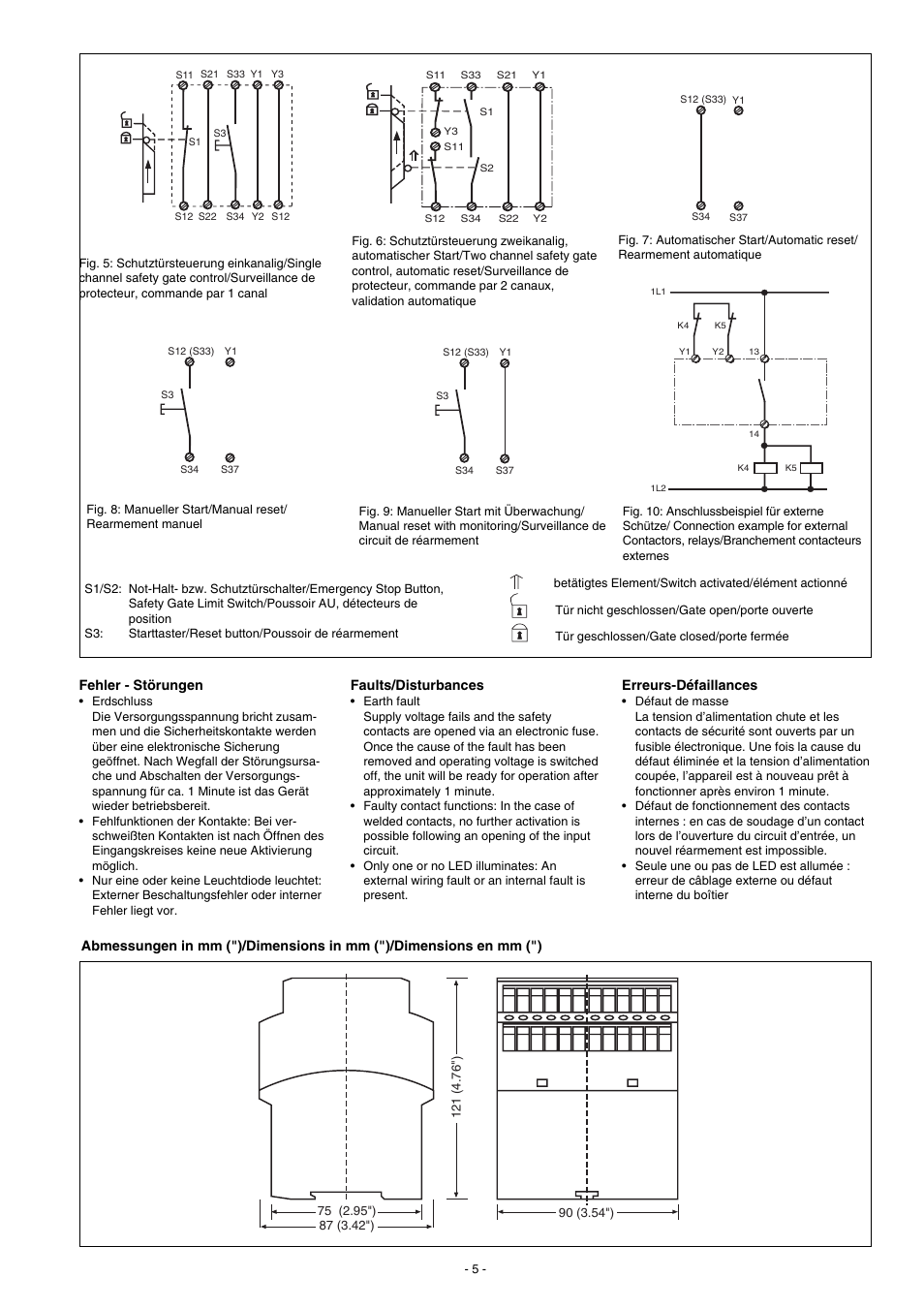 Pilz Pnoz X10 24vdc 6n O 4n C 3led User Manual Page 5 8 Also Wiring Diagram For 230 240vac 110 120vac
