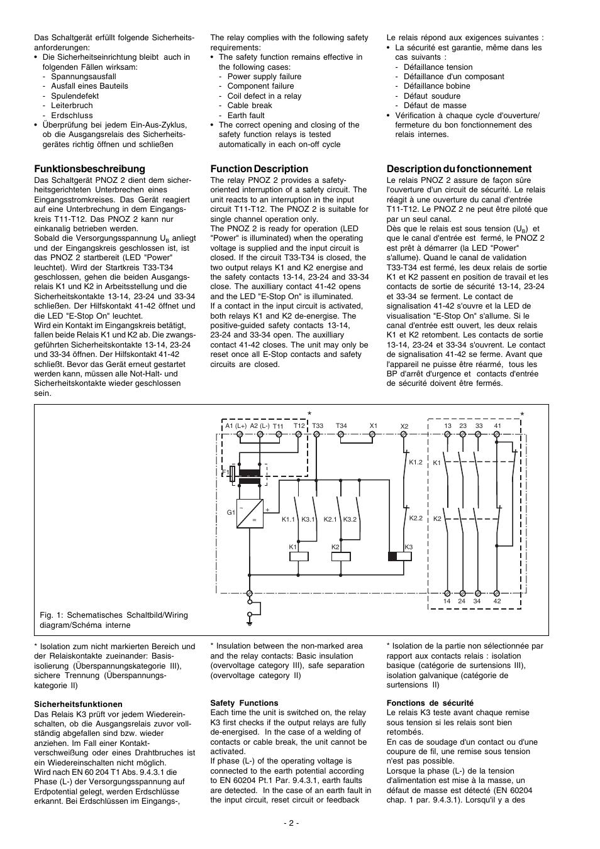 Funktionsbeschreibung, Description du fonctionnement, Function ...
