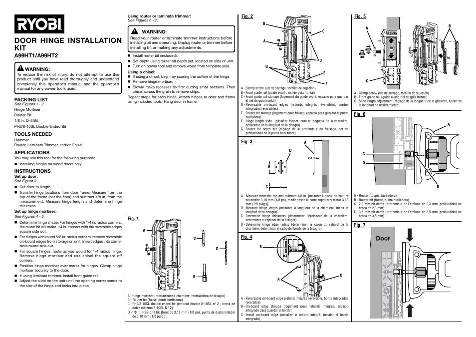 ryobi a99ht2 user manual