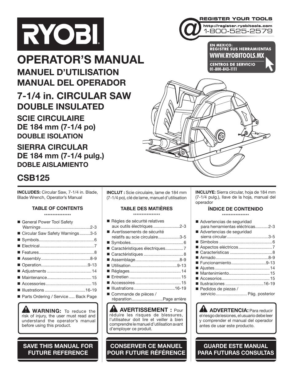 ryobi csb125 user manual 48 pages original mode rh manualsdir com ryobi user manual download ryobi plt3043ye user manual