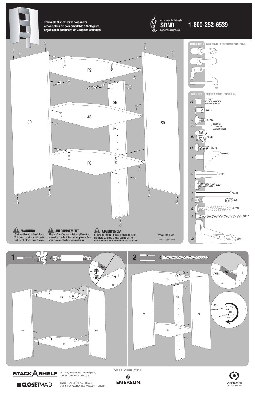 Closet Maid Stackable 3 Shelf Corner Organizer Srnr User Manual 4