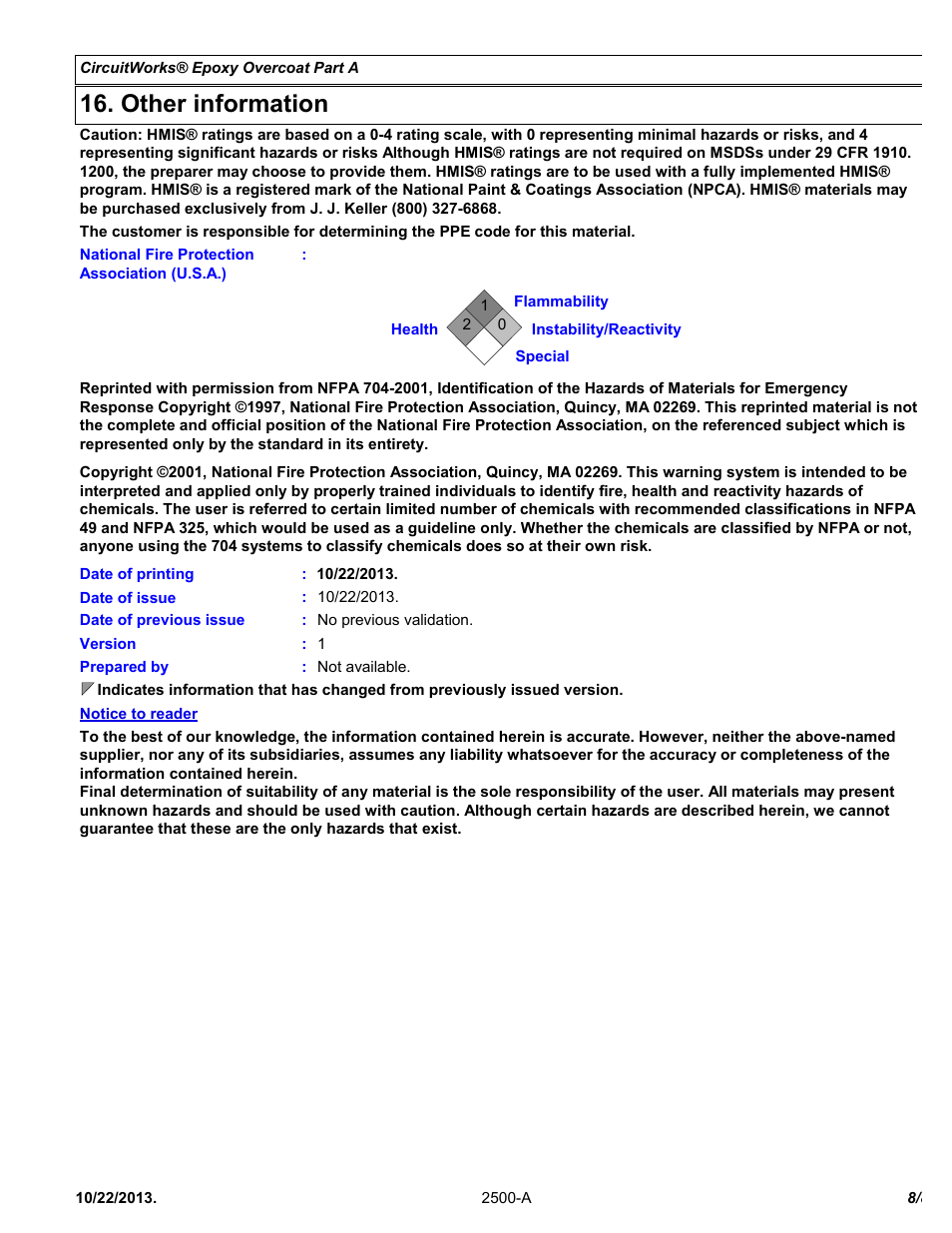 other information chemtronics circuitworks® epoxy overcoat