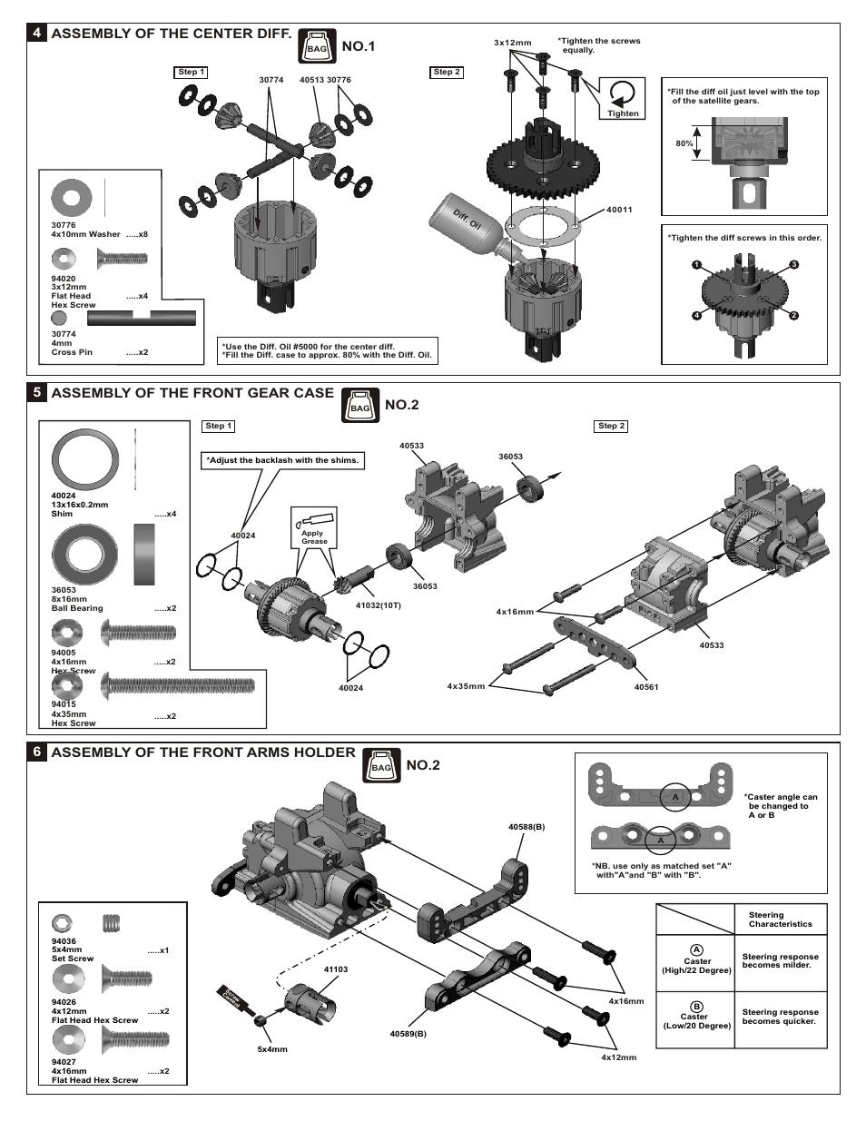 No 1, No 2 | OFNA Racing Jammin X2 Buggy User Manual | Page