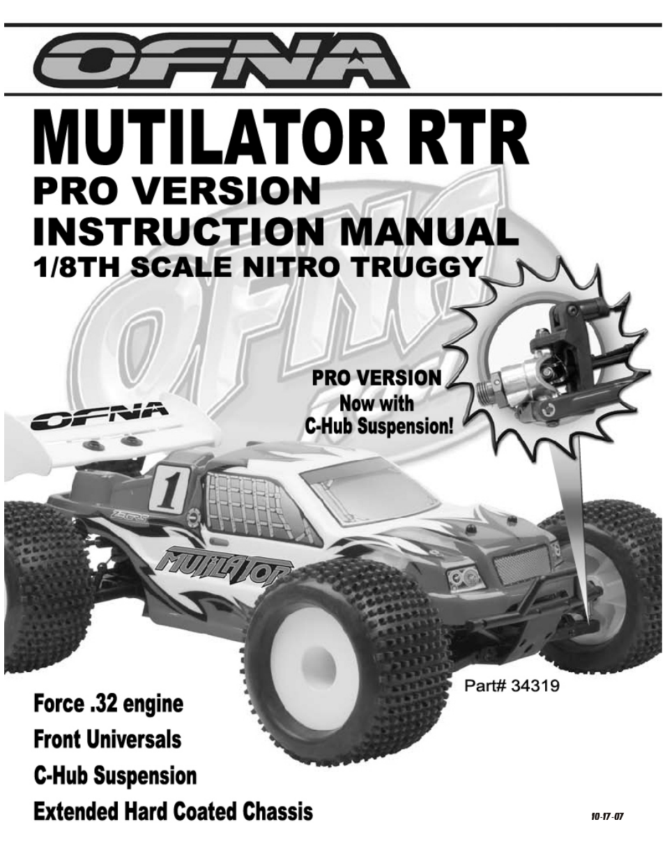 OFNA Racing Mutilator Pro RTR 32 User Manual | 35 pages on