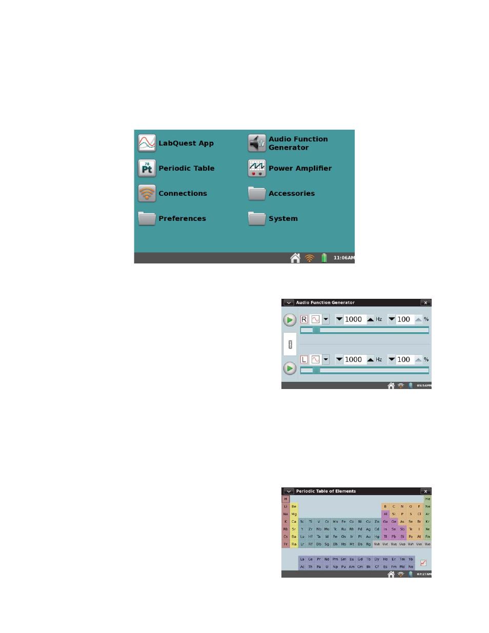 Additional apps on labquest audio function generator periodic additional apps on labquest audio function generator periodic table vernier labquest 2 user urtaz Gallery