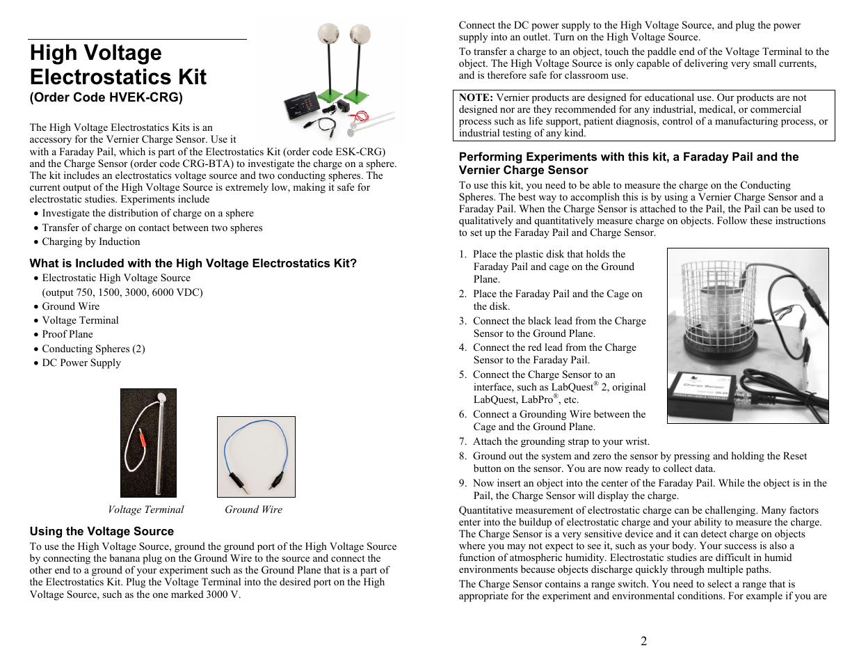 Vernier Mirror Set for Optics Expansion Kit User Manual | 4