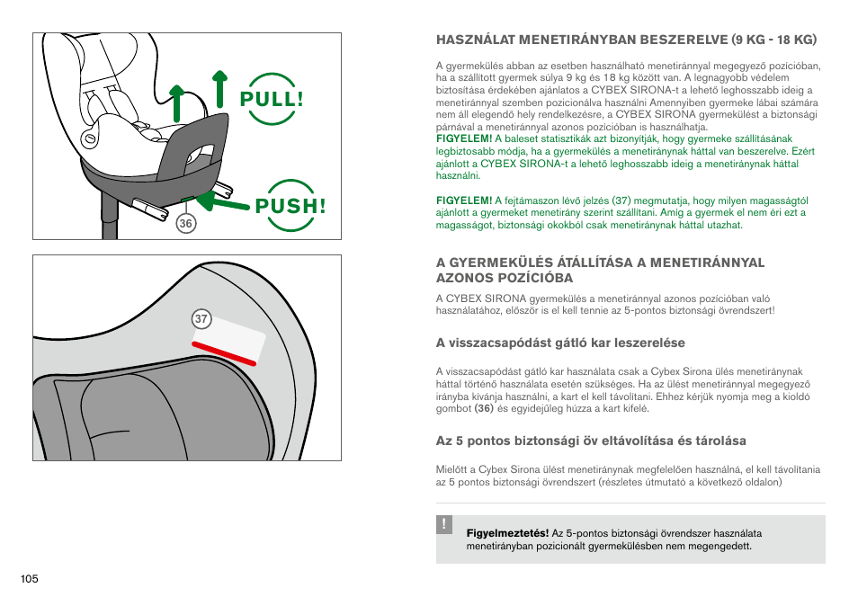 Cybex sirona user manual | page 95 / 120 | original mode.