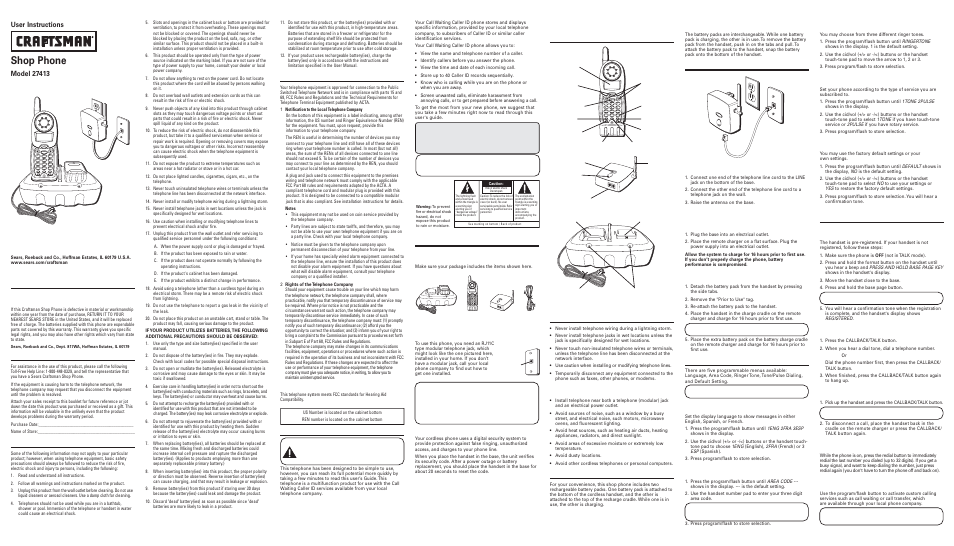 craftsman 27413 user manual 2 pages also for 16278350 rh manualsdir com Craftsman User Manuals 276600 Craftsman User Manuals 276600