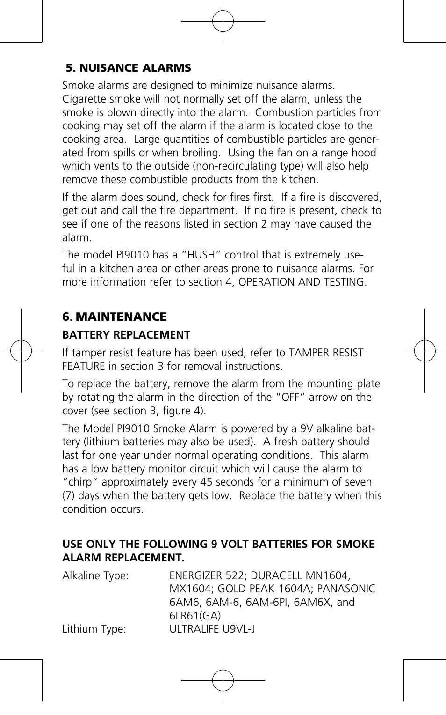 Kidde pi9010 user manual | page 9 / 15.
