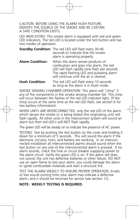 Kidde P12040 User Manual | Page 9 / 16