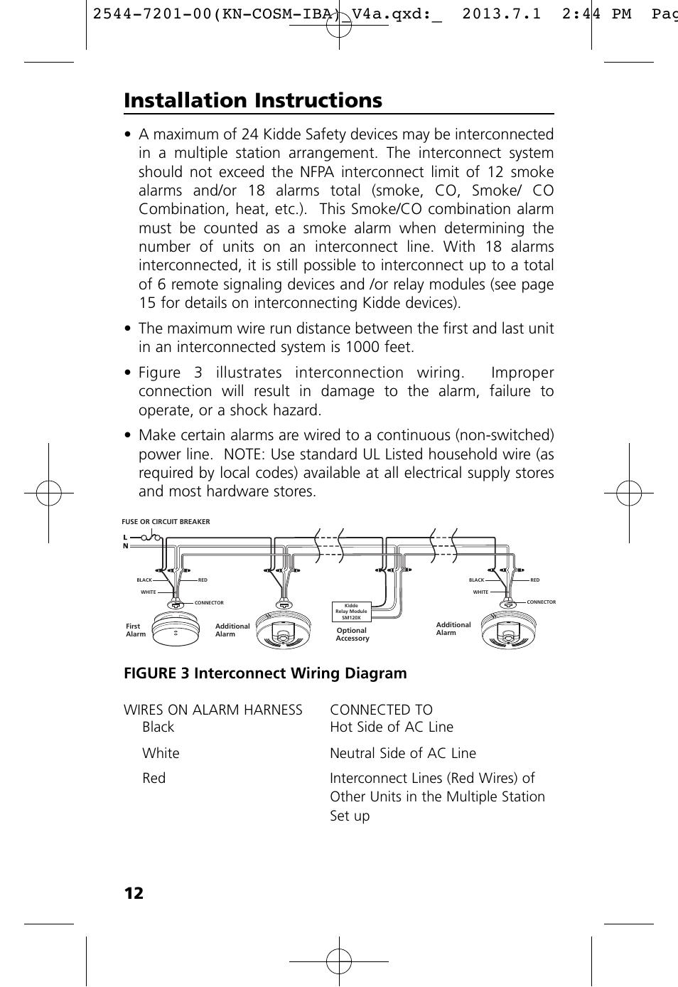 Installation Instructions  Figure 3 Interconnect Wiring