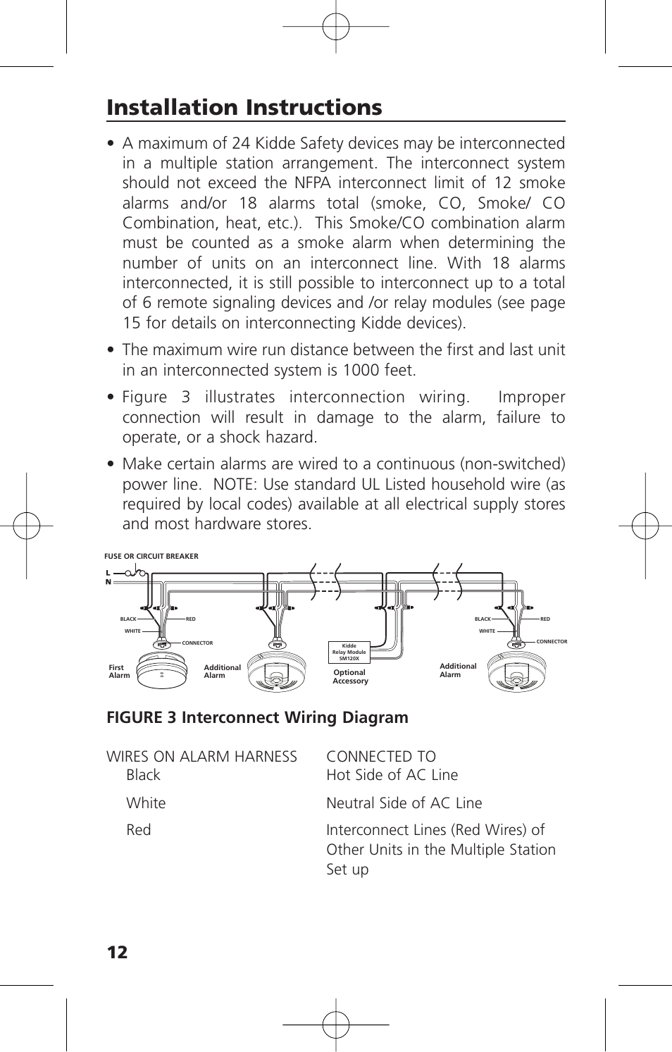 Diagram Installation Instructions Figure 3 Interconnect Wiring
