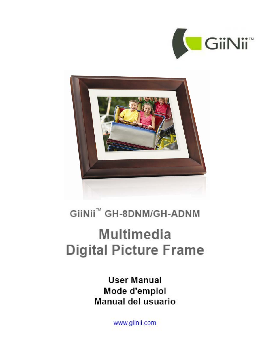 GiiNii GH-8DNM User Manual | 72 pages | Also for: GH-ADNM