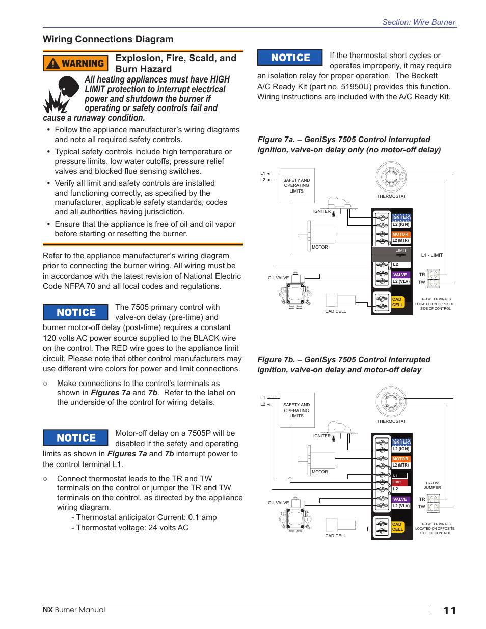 Wiring Connections Diagram  Nx Burner Manual