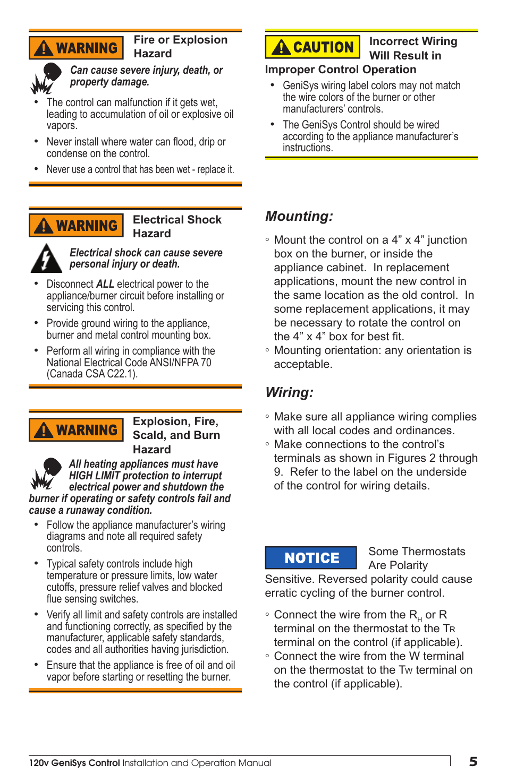 Mounting Wiring Beckett 7505 User Manual Page 5 12 Original Junction Box Details