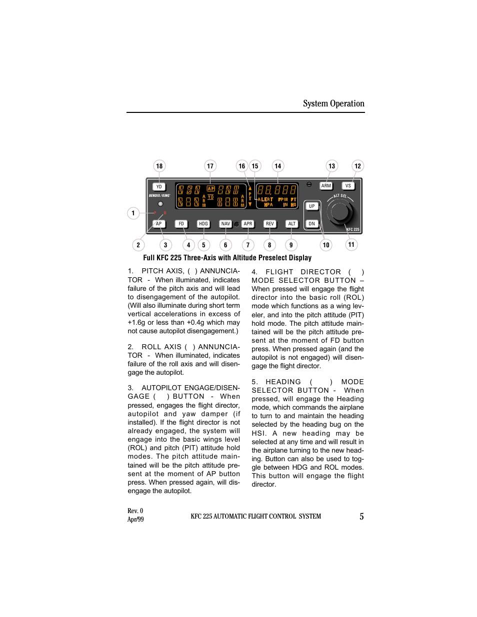 kfc 225 system operation controls and displays operation system rh manualsdir com Bendix King Radio King Avionics Manuals
