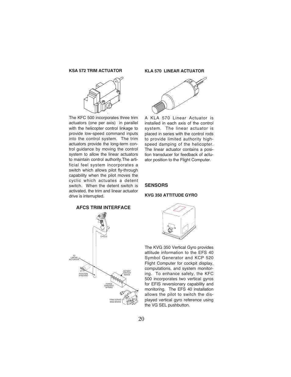 Sensors, Afcs trim interface   BendixKing KFC 500 User